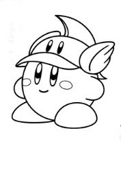 Fireman Kirby Coloring Page