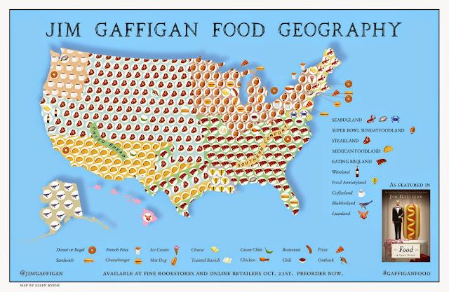 Food: A Love Story, Jim Gaffigan's Food Map