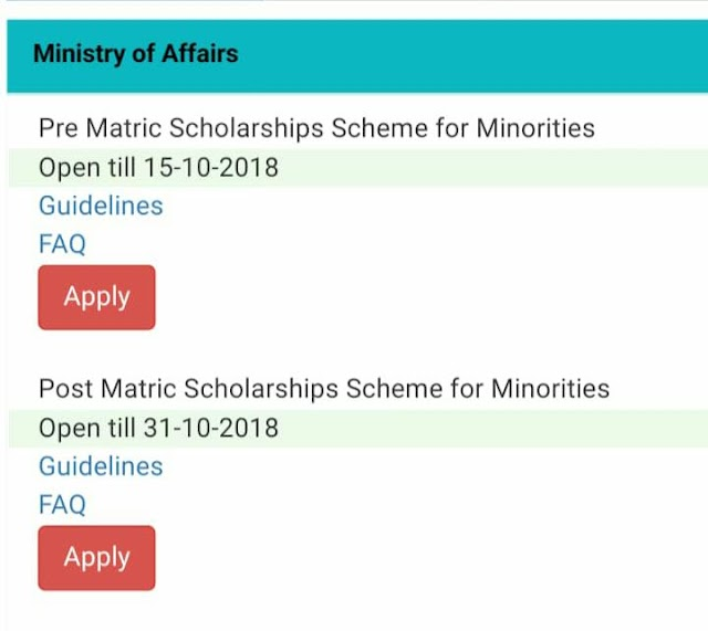 Pre Metric Scholarship Date Extended till 15th October.