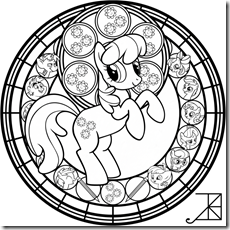 Mandala My Little Pony para colorear