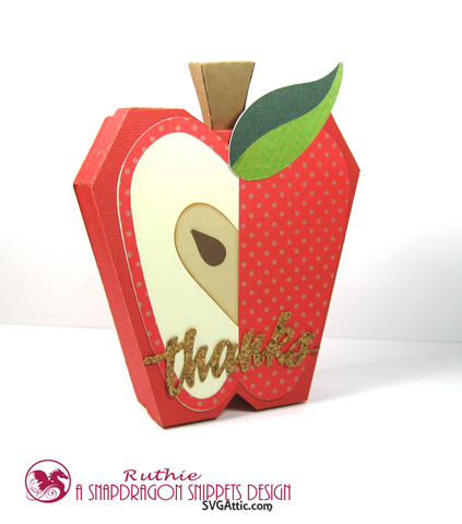 Apple flat 3d box gift card - SnapDragon Snippets - Ruthie Lopez