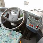 Het dashboard van de Neoplan van South West Tours bus 48