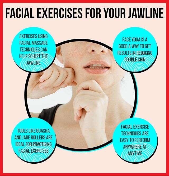 تمارين تدليك عضلات الوجه