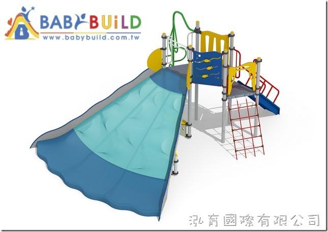 BabyBuild斜面挑戰滑梯