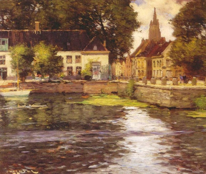 Fernand Toussaint - View of Bruges