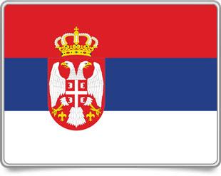Serbian framed flag icons with box shadow