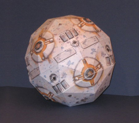 Star Wars Training Remote Paper Model