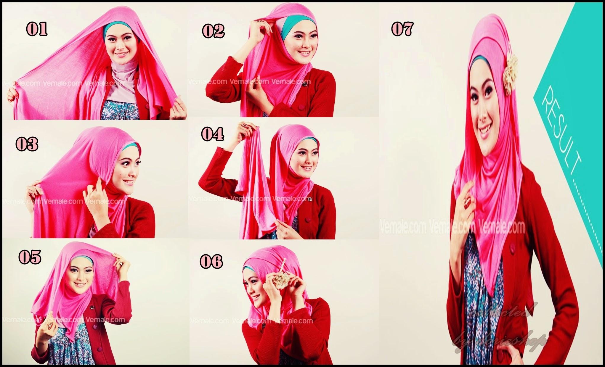 Kreasi Jilbab Segi Empat Untuk Pesta Dan Cara Memakainya Foto
