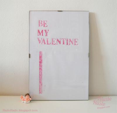 Cómo hacer una lámina para decorar en San Valentín.