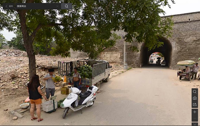 More recent view of Dieze Gate (垤泽门) in the Shangqiu Ancient City from Baidu's street view service