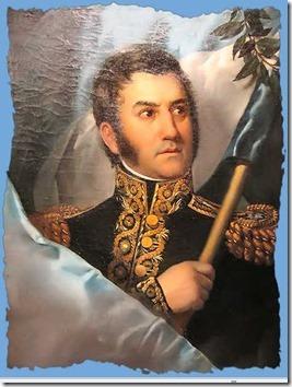 general san martin con bandera
