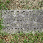 Marie Cuoullu Gleaves Wife of Robert Taylor Gleaves Evergreen Cemetery - Roanoke, Va.