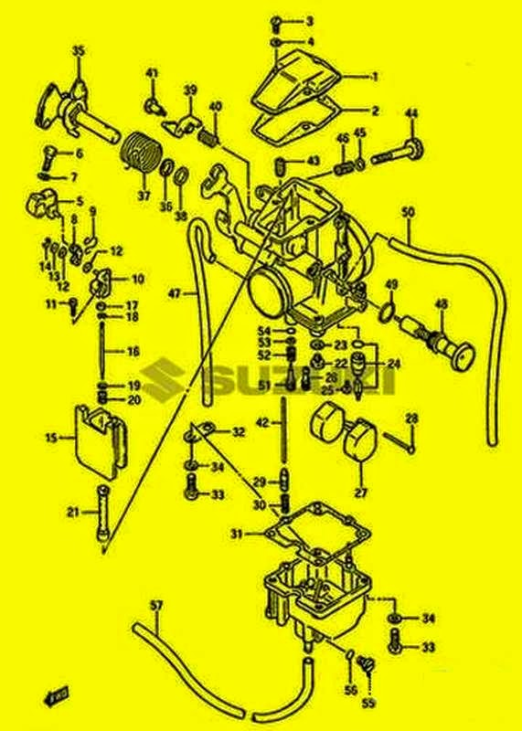 Ersatzteile original Vergaser DR600