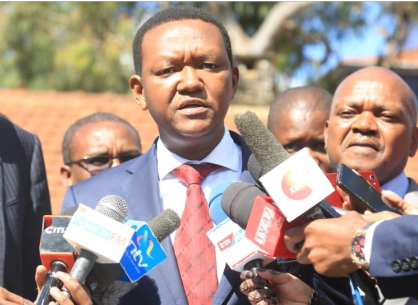 Machakos Governor Alfred Mutua on press over assault charges/ PHOTO | NMG