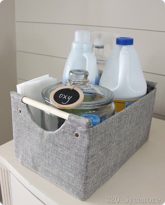 laundry supplies basket