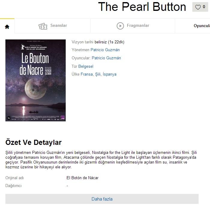 The Pearl Button - 2015 BDRip x264 - Türkçe Altyazılı Tek Link indir