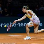 STUTTGART, GERMANY - APRIL 20 : Andrea Petkovic in action at the 2016 Porsche Tennis Grand Prix