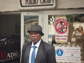Sylvain Mabela, enseignant depuis 44 ans en pédagogie active et participative. Radio Okapi/Ph. Kelly Nkute.
