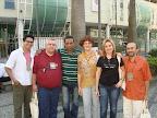 Alguns colaboradores da RENAS: Lissânder (Rede Mãos Dadas), Ailton (Ministério JEAME), Welinton (Visão Mundial), Klênia (Editora UItimato), Débora (AEBVB) e Clemir (ISER).