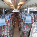 Het interieur van de Vanhool van Van Fraassen Travelling  bus 464