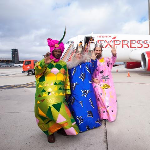 Los Reyes Magos llegan a Madrid en avión