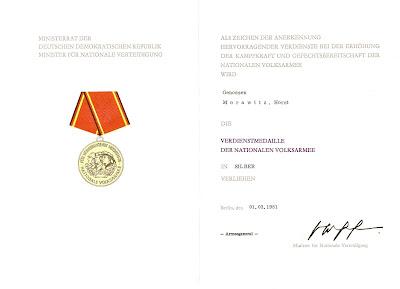 146g Verdienstmedaille der Nationalen Volksarmee in Silber www.ddrmedailles.nl