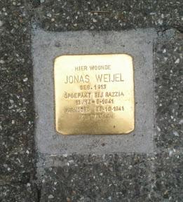 Jonas Weijel - Ledeboerstraat - Stolpersteine Enschede.