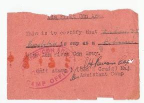Registratiekaart - Enschedese arbeider voor het 1e Canadese Leger.