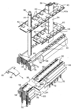 Patent 2,754,454 describes the tube module mechanism in detail.