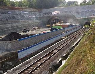 Foto Progres Terowongan Ijo Double Track