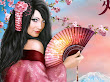 Fantasy Pink Samurai Princess Girl