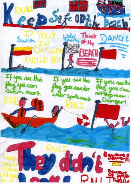 Sea safety poster - Katie