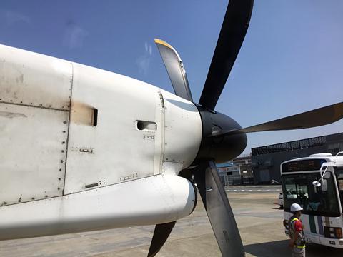 日本エアコミューター JAC3595便 プロペラ部分
