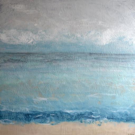 Grey Days Make Waves. Artist Jillian Waite