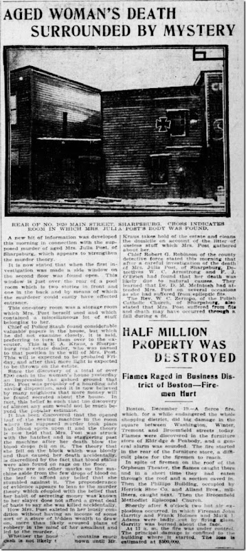 Julia OReilly Mystery Pittsburgh Press 12_19_1906 pg 1