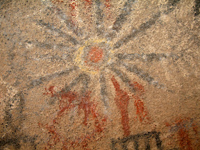 Colorful Sun pictograph