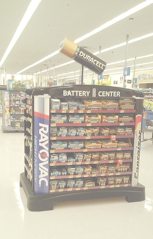 rayovac battery center at Walmart