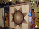 2007 Quilt Show - H) Pieced Bed Hand Quilted