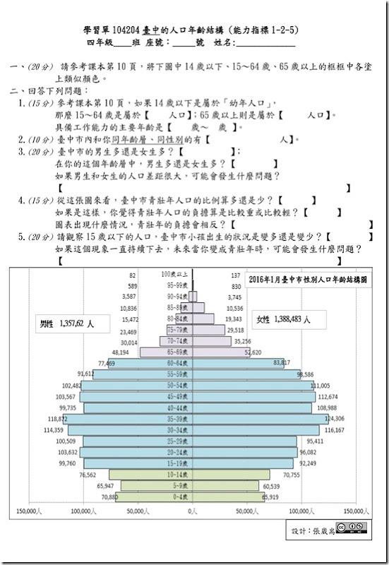 學習單104204台中的人口年齡結構B4_01