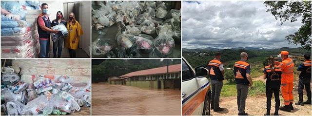 Governo de Minas atua em cidades atingidas pelas chuvas