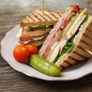 Double Decker Ham and Bacon Sandwich Recipe