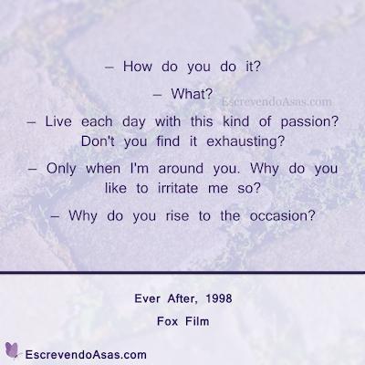 Citação Para Sempre Cinderela, 1998 - Ever After, 1998