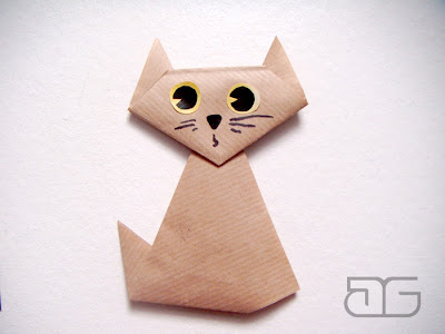 Mali Artyści Proste Origami Kotek