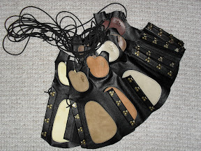 NEW! hand protection combined with armguard - very smooth leather with different colors