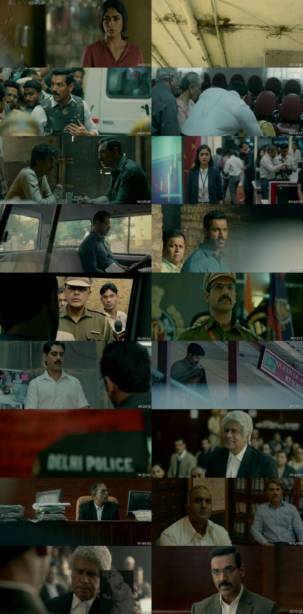 Screen Shot Of Batla House 2019 300MB HDRip 480P Full Hindi Movie Watch Online Free Download