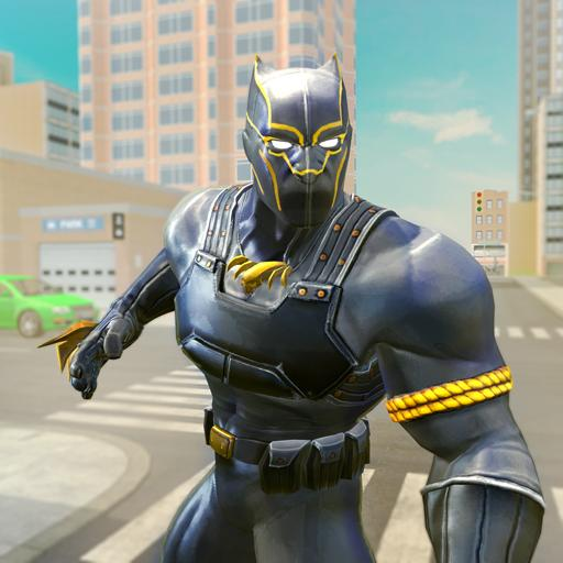 Black Panther Superhero Crime City Rescue Fighting (game)