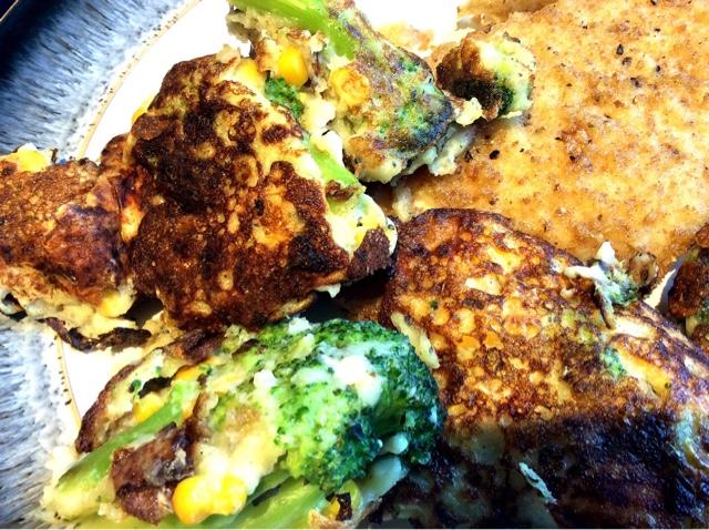 Broccoli , Sweetcorn and Feta Fritters
