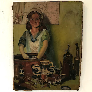 'Barmaid' Oil Painting