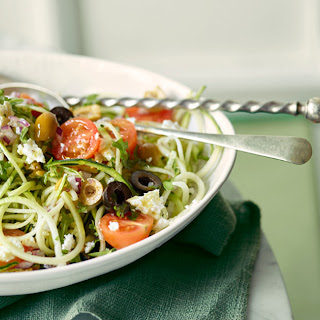 Greek Salad with Courgette Noodles.