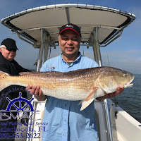 Chris with a bull redfish 05-05-2018